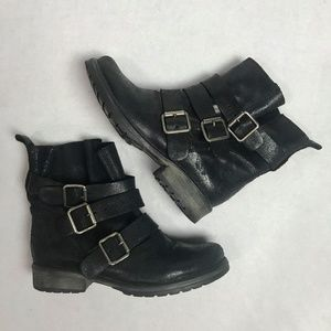 8a29782082c Steve Madden Colony Moto Black Leather boots